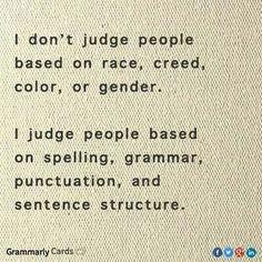Yep, I judge!