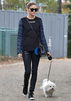 15 Dog-Walking Outfit Ideas Inspired by Celebrities - Olivia Palermo from #InStyle