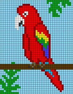 Cross Stitch Pattern Maker, Disney Cross Stitch Patterns, Crochet Cow, Pixel Crochet, Diy Perler Bead Crafts, Tapestry Crochet Patterns, Pixel Art Templates, Cross Stitch Bird, Cross Stitch Landscape