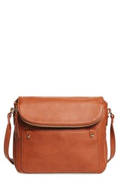 BP. Zip Flap Faux Leather Crossbody Bag available at #Nordstrom