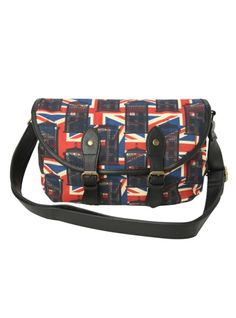 f66a7aeb6b79 Crossbody bag from Doctor Who with Union Jack   TARDIS print design
