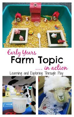 The Farm is a firm favourite Early Years topic that is often covered in most settings. It offers a wide range of learning opportunities and the children have so much fun and enjoyment leaning about the different animals! Early Years Topics, Early Years Science, Early Years Teaching, Eyfs Activities, Activities For 2 Year Olds, Animal Activities, Preschool Activities, Preschool Farm, Play Based Learning