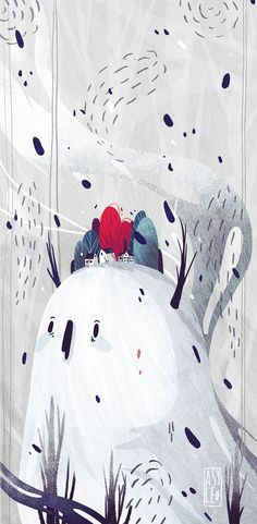 Snowman - By ASyle.  I'm recently having a lot of fun with different kind of brushes. Feels nice!
