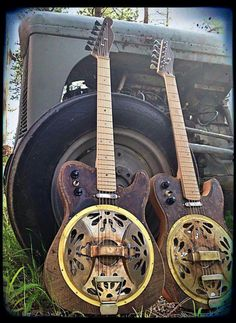 This guitar is made with the same styling and quality of all Kochel Guitars. This maple necked electric resonator guitar comes equipped with a three way switch. Cigar Box Guitar, Music Guitar, Cool Guitar, Resonator Guitar, Telecaster Guitar, Fender Guitars, Famous Guitars, Fender American, Guitar Painting