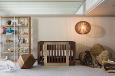 Project Nursery - 24 Karat Gold Crib, Lydian by Nursery Works