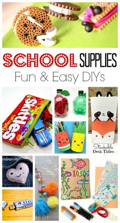 School Supplies DIY Ideas - oh yes we ADORE stationery, school supplies and anything back to school related. I always had a thing about stationery when young and loved making school supplies diys or personalising my stationery. Here are some wonderful Back to School DIY ideas for kids! #backtoschool #supplies #schoolsupplies #diy #organisation #forteens #middleschool #ideas