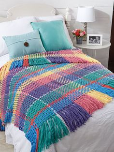 This unique afghan uses a special date to create the plaid design. The afghan can be made as is, or learn how to customize your own date by reading the tutorial article in the instructions. Each number in the date represents a color and the number of...