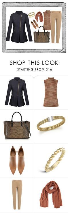 """Untitled #74"" by orly-mandelbaum ❤ liked on Polyvore featuring WithChic, Armani Jeans, Roberto Coin, Zara, Lagos, Brunello Cucinelli, TIBI and Polaroid"