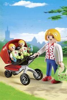 Playmobil Μαμά Με Δίδυμα & Καροτσάκι (5573)   Moustakastoys.gr