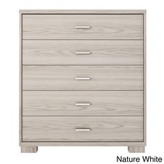 Manhattan Comfort White High Gloss 5-drawer Astor Dresser | Overstock.com Shopping - The Best Deals on Dressers