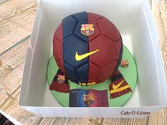 Barcelona Football Cake by Cake-D-Licious Football Birthday Cake, Soccer Birthday Parties, Boy Birthday, Birthday Cakes, Birthday Ideas, Pastel Del Barcelona, Barcelona Cake, Chocolate Buttercream, Chocolate Fudge
