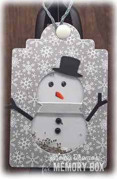O Christmas Shaker Tags by Shelby Thomas | Outside The Box | Snow man tag