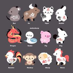 Chinese Zodiac Signs I'm the pig Zodiac Signs Virgo, Chinese Zodiac Signs, Zodiac Art, Chinese Zodiac Snake, Zodiac Signs Animals, Astrology Zodiac, Cute Animal Drawings, Kawaii Drawings, Cute Drawings