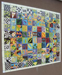 Tile Murals - idea for school mural this year
