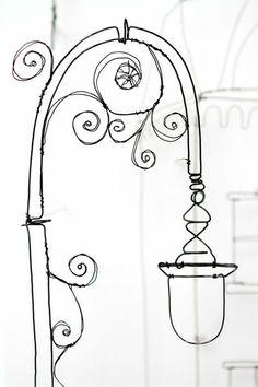 Lampposts (Helaina Sharpley Wirework Artist)