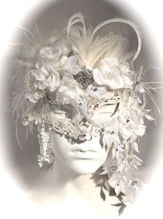 Venetian Bride Masquerade Mask Carnival Masks by Marcellefinery