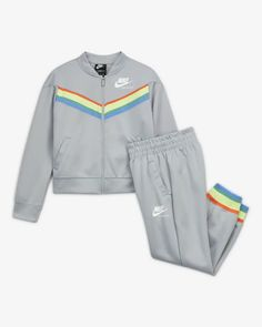 Toddler Nike Outfits, Cute Nike Outfits, Tomboy Outfits, Kids Outfits, Summer Outfits, Little Girl Outfits, Baby Boy Outfits, Kids Sports Clothes, Big Kids