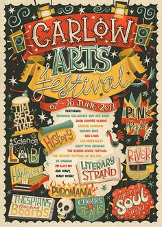 Carlow Arts Festival - Poster on Behance
