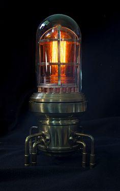 Steampunk lamp Steampunk light Steampunk lite. by TheArtOfSpirit, $550.00