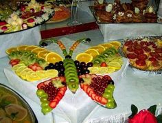 Fruit platter - butterfly design