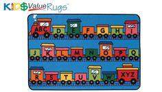 "CK-36.15 Alphabet Train Kids Value Rug 3' x 4'6"""