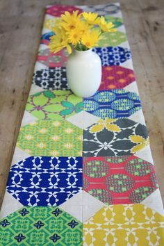 Folk Modern Table Runner Sew-Along on The Long Thread
