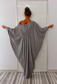 Long Grey Maxi Dress, Abaya Dress, Cotton Knit Cocoon Dress, Plus Size Dress… Trend Fashion, Fashion Design, Cocoon Dress, Grey Maxi, Queen Dress, Caftan Dress, Mode Inspiration, Mode Style, Plus Size Outfits