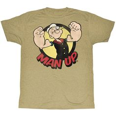 Popeye Strongs To Tha Finch Adult Black Back 100/% Poly T-shirt