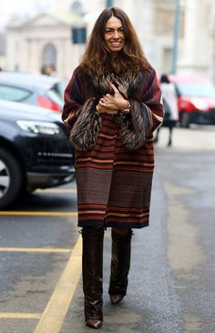 Viviana Volpicella, Brown Coat w/ Furry