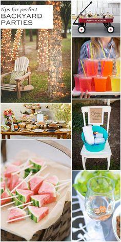 Tips for Fabulous Backyard Parties! Pin to remember!