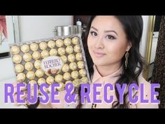 DIY Jewelry & Makeup Storage with Ferrero Rocher Containers. You could even spray paint the container to add a personal touch to it! Makeup Palette Storage, Good Makeup Storage, Make Up Storage, Diy Storage, Storage Ideas, Bathroom Storage, Diy Makeup Organizer, Makeup Storage Organization, Diy Makeup Brush