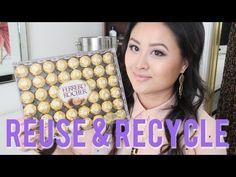 Bijoux DIY et stockage de maquillage avec Ferrero Rocher Conteneurs - YouTube