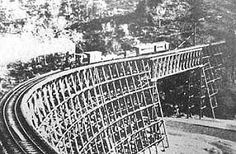 Building the bridges over the rivers and canyons of the Old West was just one peril the construction companies faced as they built the Transcontinental Railroad