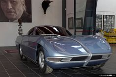 Questa è la versione mockup di legno della Lamborghini 350 GTV in mostra al Museo Ferruccio Lamborghini