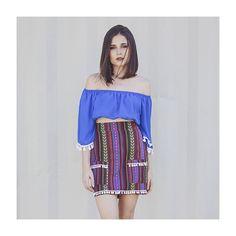 Muito amor por este look com combo de cropped ciganinha + saia etnica! ❤️ #fashion #love #style #itgirl  #lojabySiS  www.lojabysis.com.br