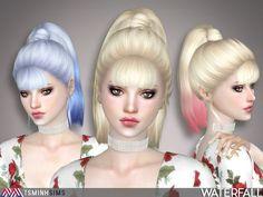 Waterfall Hair 47 by TsminhSims at TSR • Sims 4 Updates