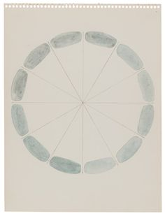 Richard Tuttle, Any Grey, 1972. Graphite and watercolor on paper. 11 7.