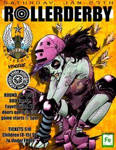 Roller Derby Poster