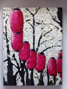 Lanterns in Spring Original Oil Painting - Etsy