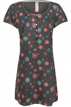 MISTRAL Splatter Print Pin Tuck Detail Tunic Grey Multi now just £25.24 with 25% off in the Summer Sale