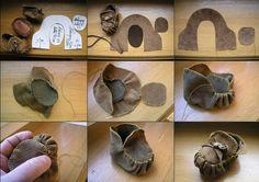 Mini Leather Moccasins – DIY