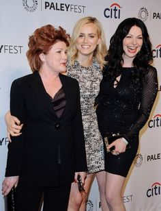 """Laura Prepon Photos Photos - PaleyFest 2014 - """"Orange Is the New Black"""" Premiere..The Dolby Theatre, Hollywood, California..March 14, 2014..Job: 140314A1..(Photo by Axelle Woussen/Bauer-Griffin)..Pictured: Kate Mulgrew, Taylor Schilling and Laura Prepon. - PaleyFest 2014 - """"Orange Is the New Black"""" Premiere"""