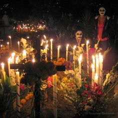 Day of the Dead - in the cemetery, Oaxaca, Mexico