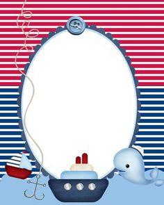 Sailor Party, Sailor Theme, Baby Shower Marinero, Scrapbook Bebe, Boy Shower Invitations, Baby Shawer, Nautical Party, Baby Cartoon, Baby Cards