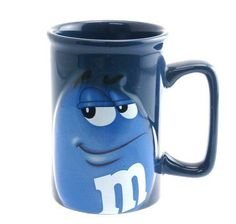 I bought this mug in Miami terminal - it smile at me & wanted to fly home with me Cute Coffee Mugs, Cool Mugs, I Love Coffee, Tea Mugs, Coffee Cups, Cowboy Cupcakes, M&m Characters, M M Candy, Vases