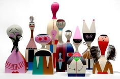Wooden Dolls by Alexander Girard, manufactured by Vitra