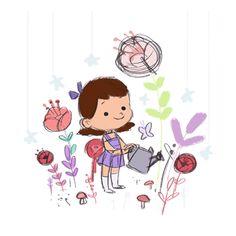 Space Garden illustration by Pamela Barbieri #drawing