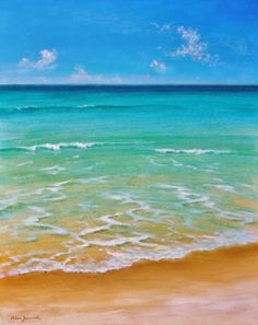 The Tropical Artist : Walking into a Painting Seascape Paintings, Nature Paintings, Landscape Paintings, Ocean Paintings On Canvas, Beach Canvas, Beach Art, Beach Watercolor, Watercolor Landscape, Beach Scene Painting