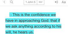 1 John 5:14 (NIV)