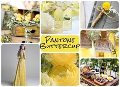 Moodboard created by Selena Daniel, Pantone: Buttercup via UKAWEP/Diploma in Wedding Event Planning, Styling and Design Pantone 2016, Pantone Color, Selena, 2016 Wedding Trends, Reds Bbq, Bbq Apron, Wedding Consultant, Grilling Gifts, Summer Barbecue